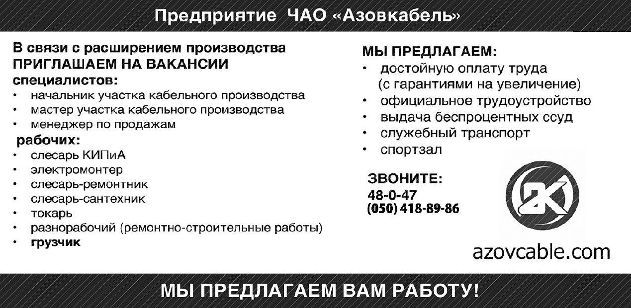 Работа в мелитополе вакансии объявления дать объявление бетонной